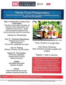 Cover photo for Home Food Preservation