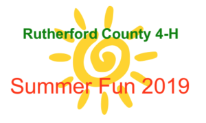 Cover photo for Rutherford County 2019 4-H Summer Fun