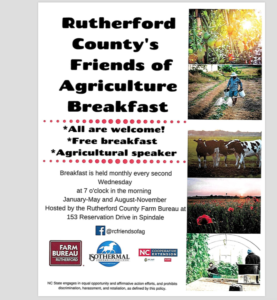 Cover photo for Rutherford County Friends of Ag Breakfast