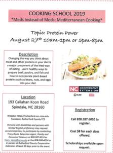 Cooking School flyer image