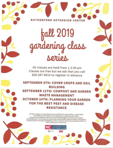 Cover photo for Rutherford County  Fall Gardening Classes