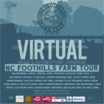 Virtual NC Foothills Farm Tour promotional poster