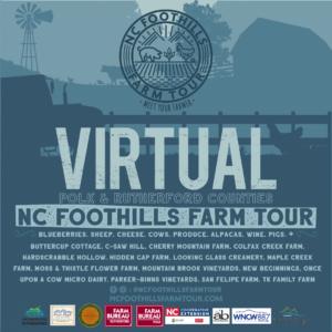 Virtual NC Foothills Farm Tour promotional poster