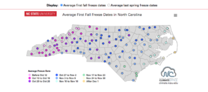 Map of all counties in North Carolina